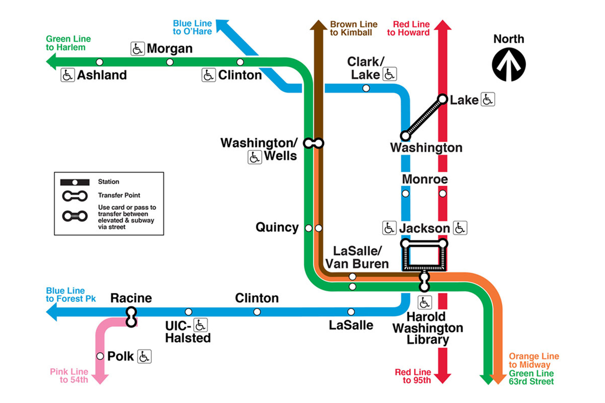 cta pink line map