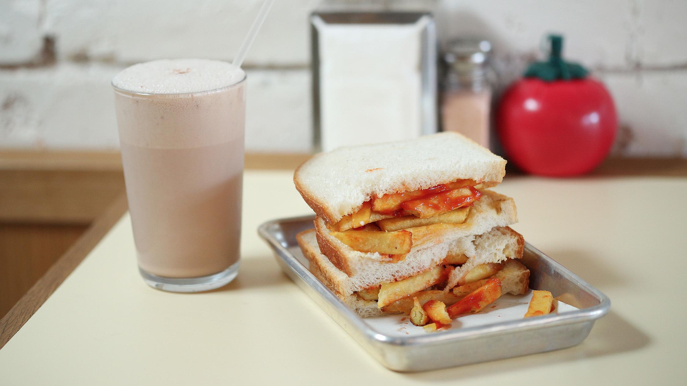 Chip sandwich at Kelso's Sandwich Shoppe