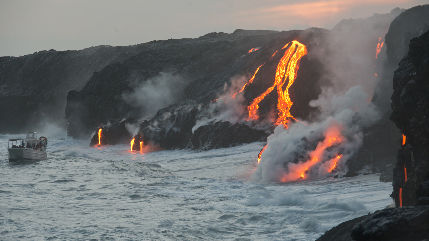 The volcanoes of Hawaii
