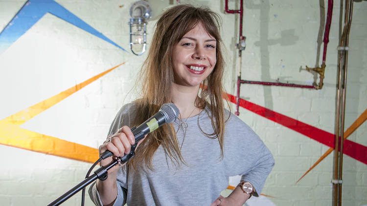 Georgie Morrell, partially sighted comedian