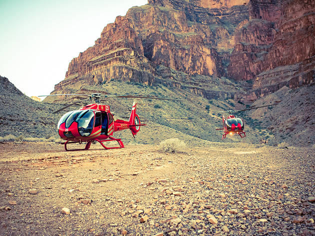 Sunset Helicopter Flight over the Grand Canyon