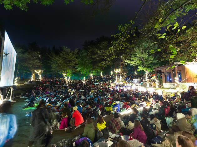 夜空と交差する森の上映会 IN ゴールデンウィーク2017