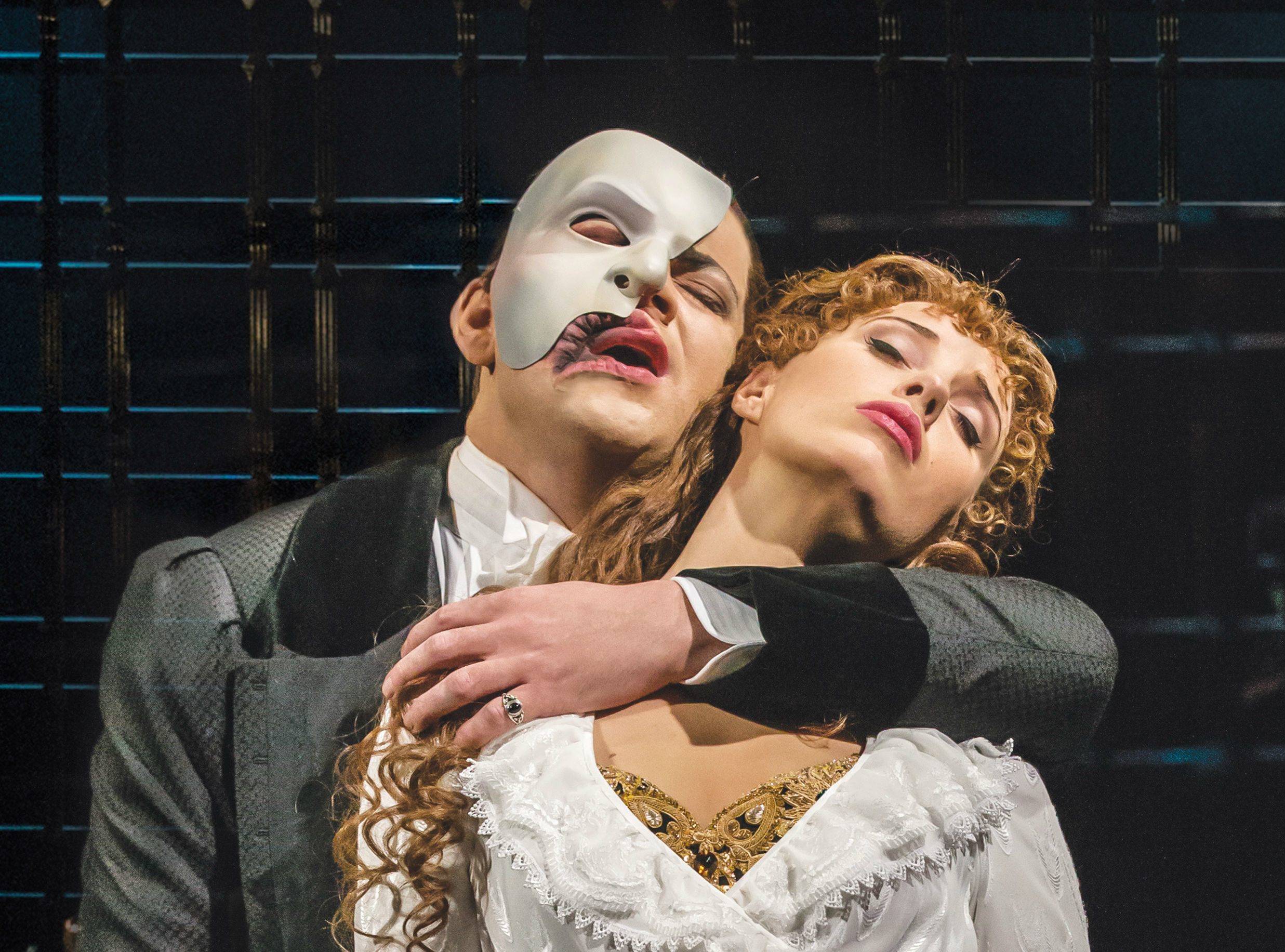 <p>Ben Forster and Celinde&nbsp;<span>Schoenmaker in 'The Phantom of the Opera'</span></p>