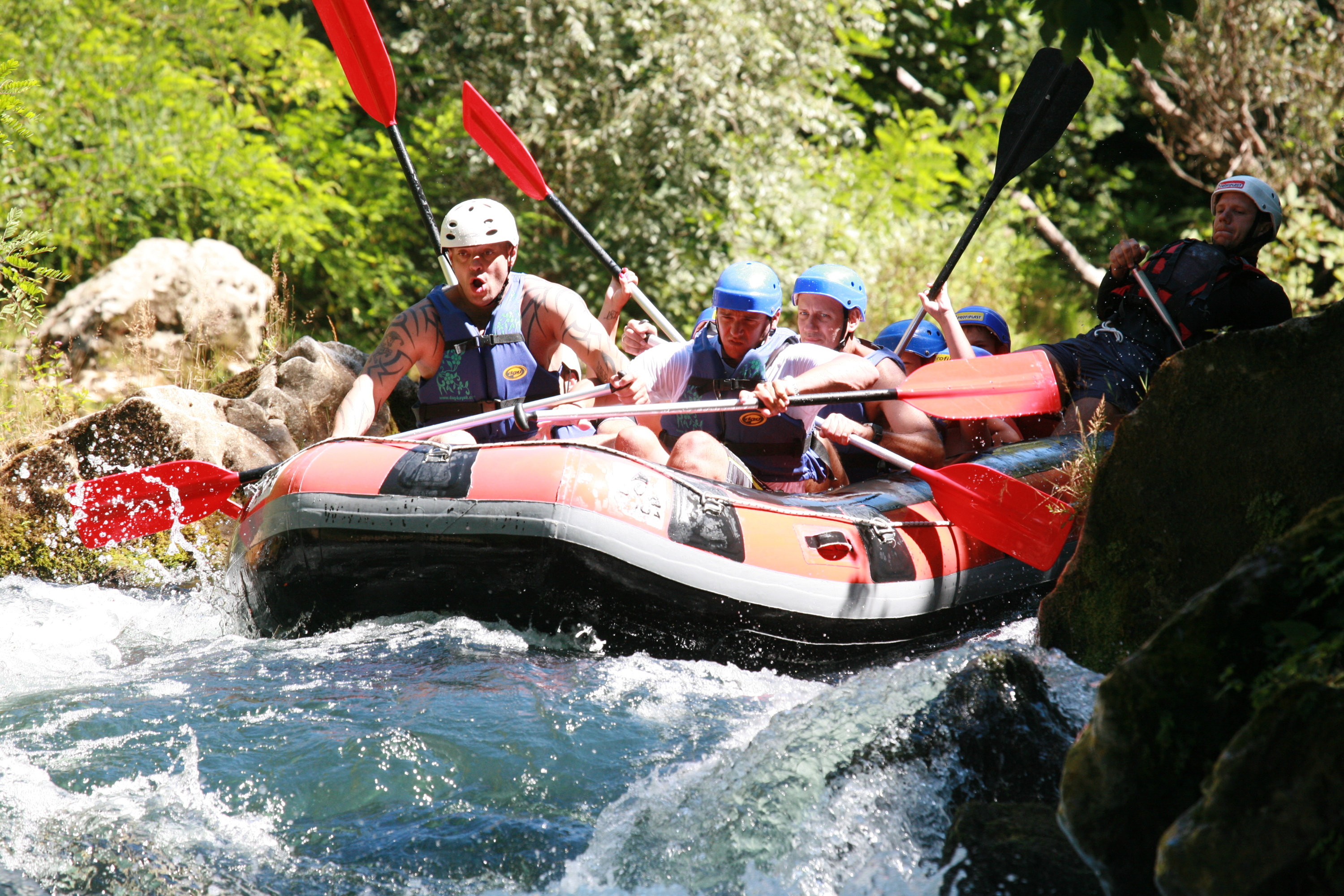 Splash about on a rafting adventure