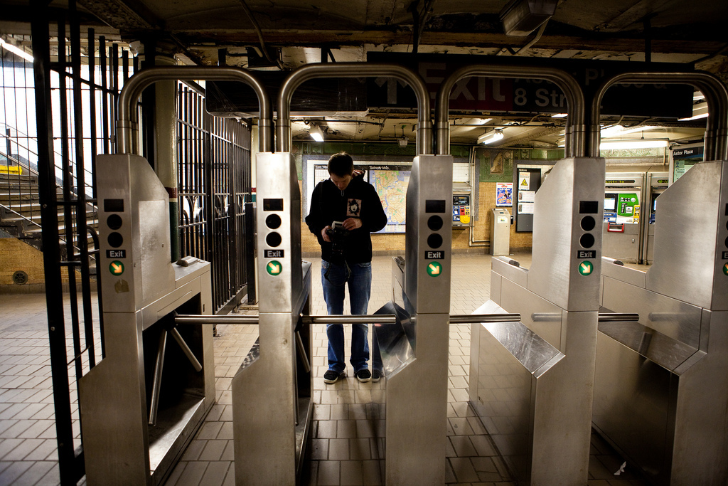 Don't be a dick about it, just swipe someone into the subway if they ask