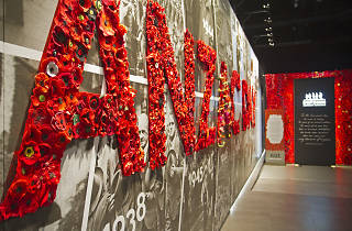 ANZAC sign made of poppies