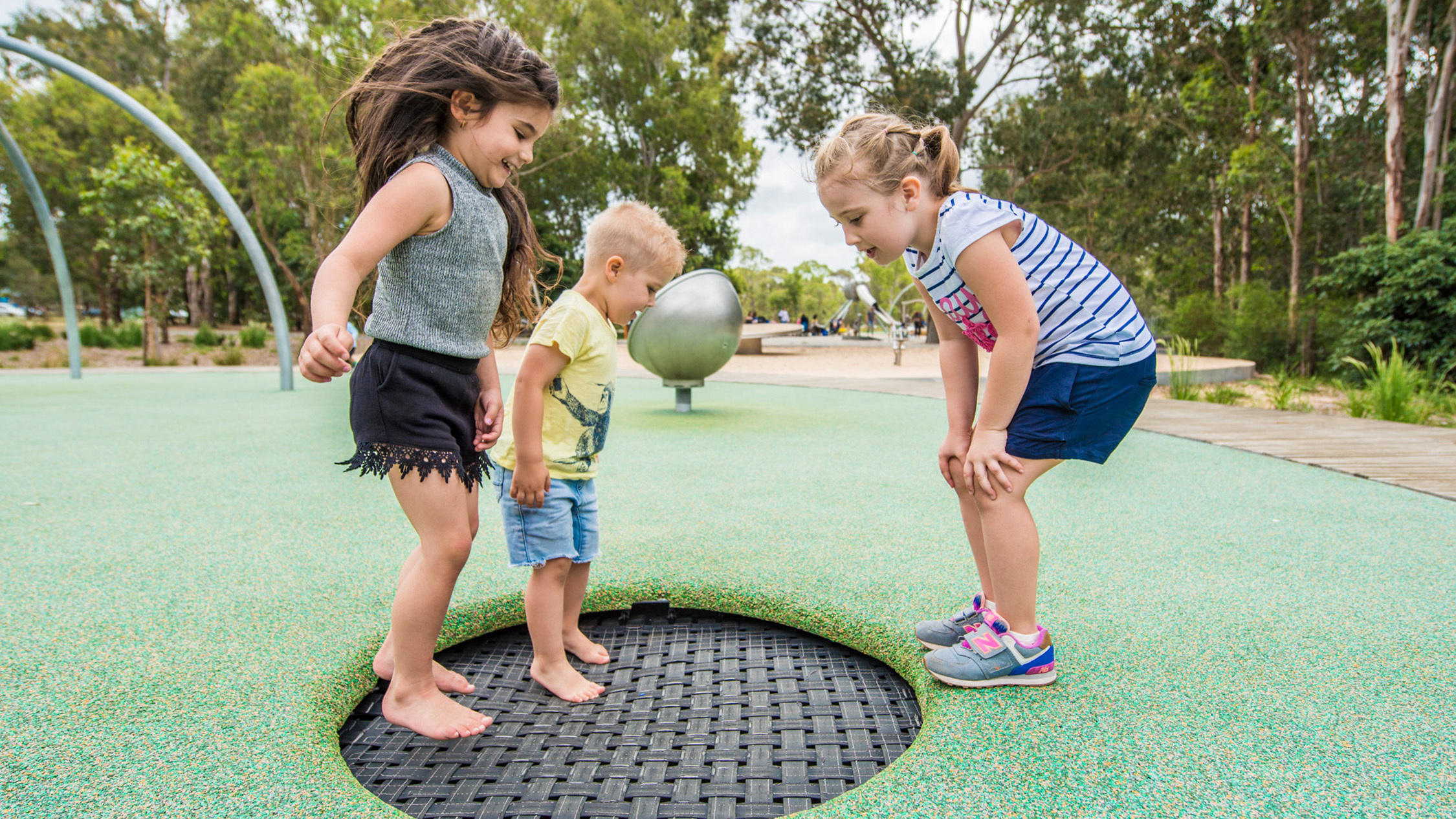 Trampoline at Domain Creek Playground