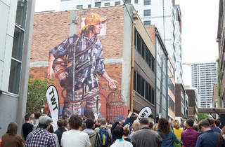 TWT Creative Precinct Block Party 2014 feat Mural by Fintan Magee courtesy TWT Creative Precinct 2017