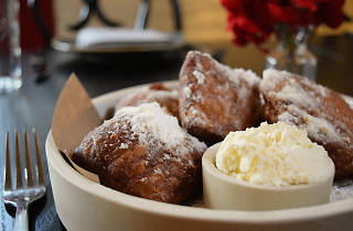 Fried beignets at Buttermilk and Bourbon