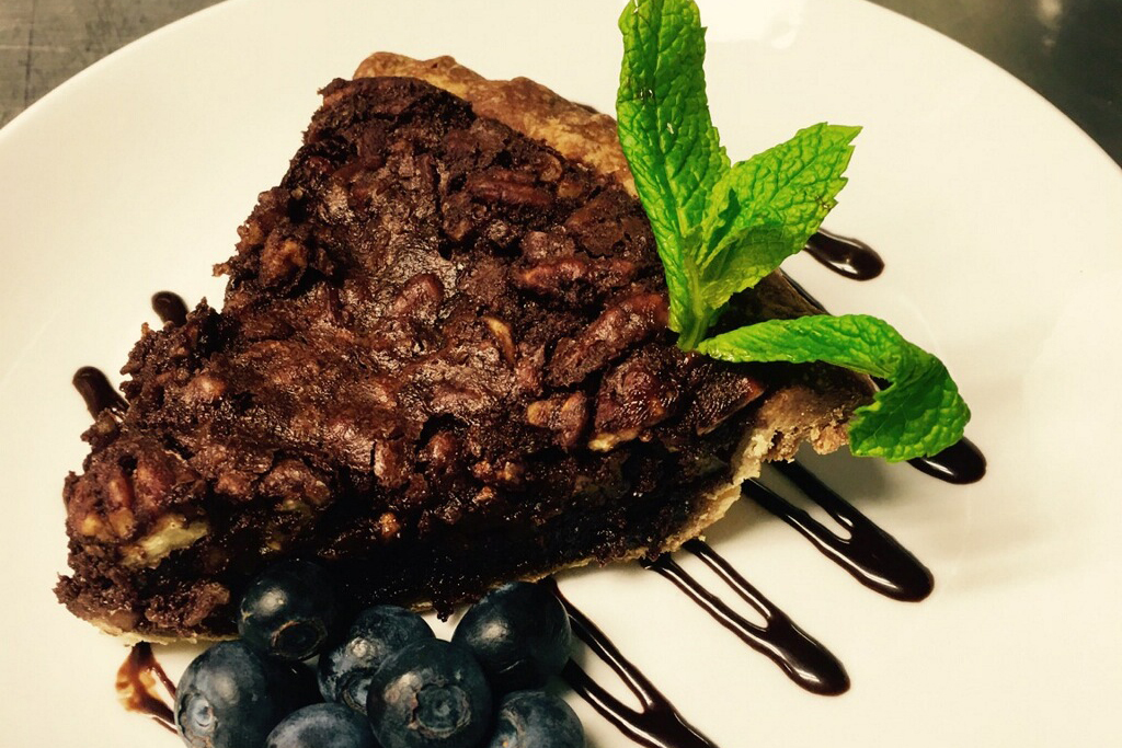 Chocolate pecan pie at Coppersmith