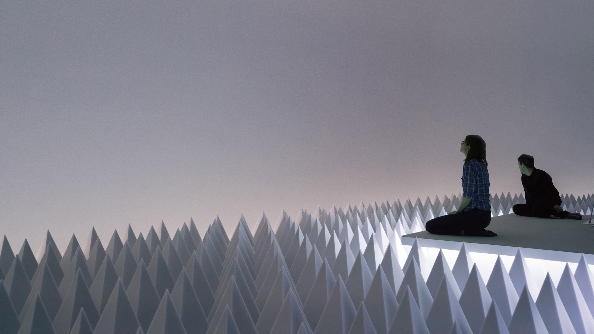 "An immersive, completely silent ""desert"" has been installed at the Guggenheim"