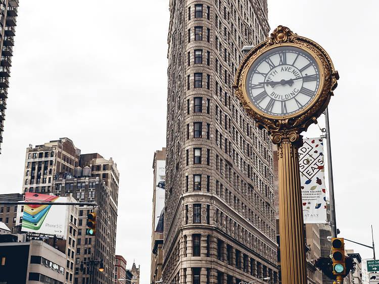 Fifth Avenue Building Street Clock
