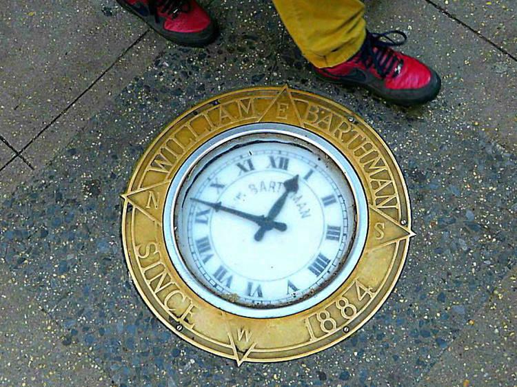 Bathman's Sidewalk Clock