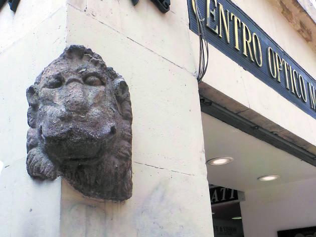 Cabeza de león en el Centro Histórico