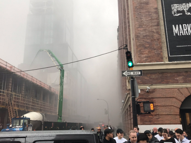 A serious fire is currently raging at Chelsea Market