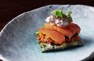 Cured salmon at Burma Lane