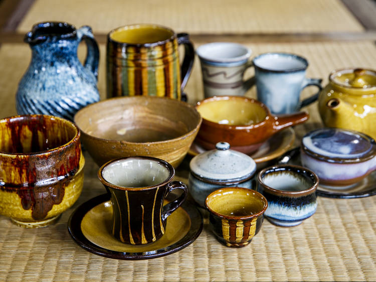 Marvel at masterful pottery...