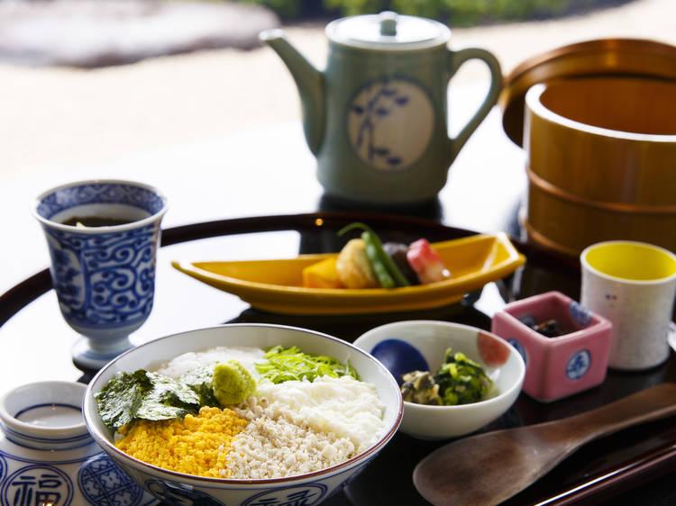 Sample Matsue's signature dish...