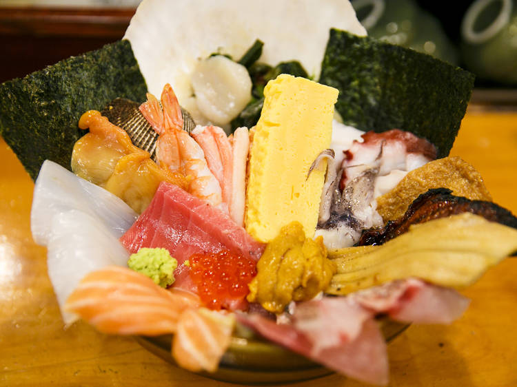 Have a seafood feast...