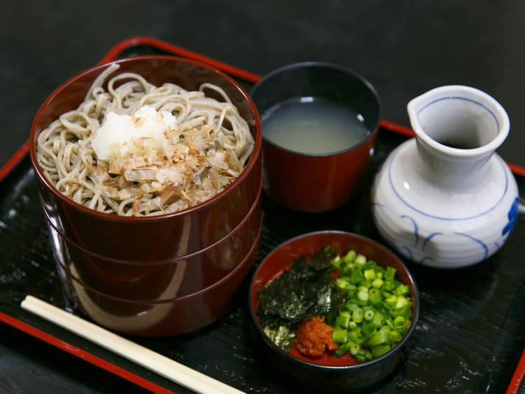 Taste a triple noodle delight...