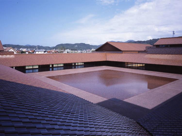 Admire the Sekishu roof tiles...