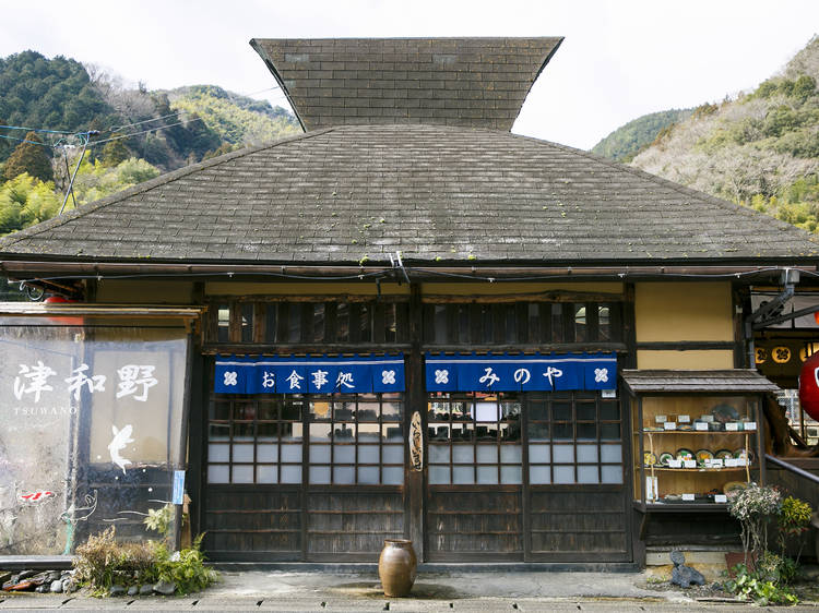 Power up at a tranquil teahouse...