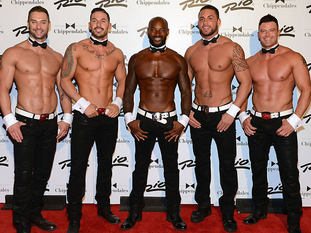 Tyson Beckford guest dances at Chippendales in 2015