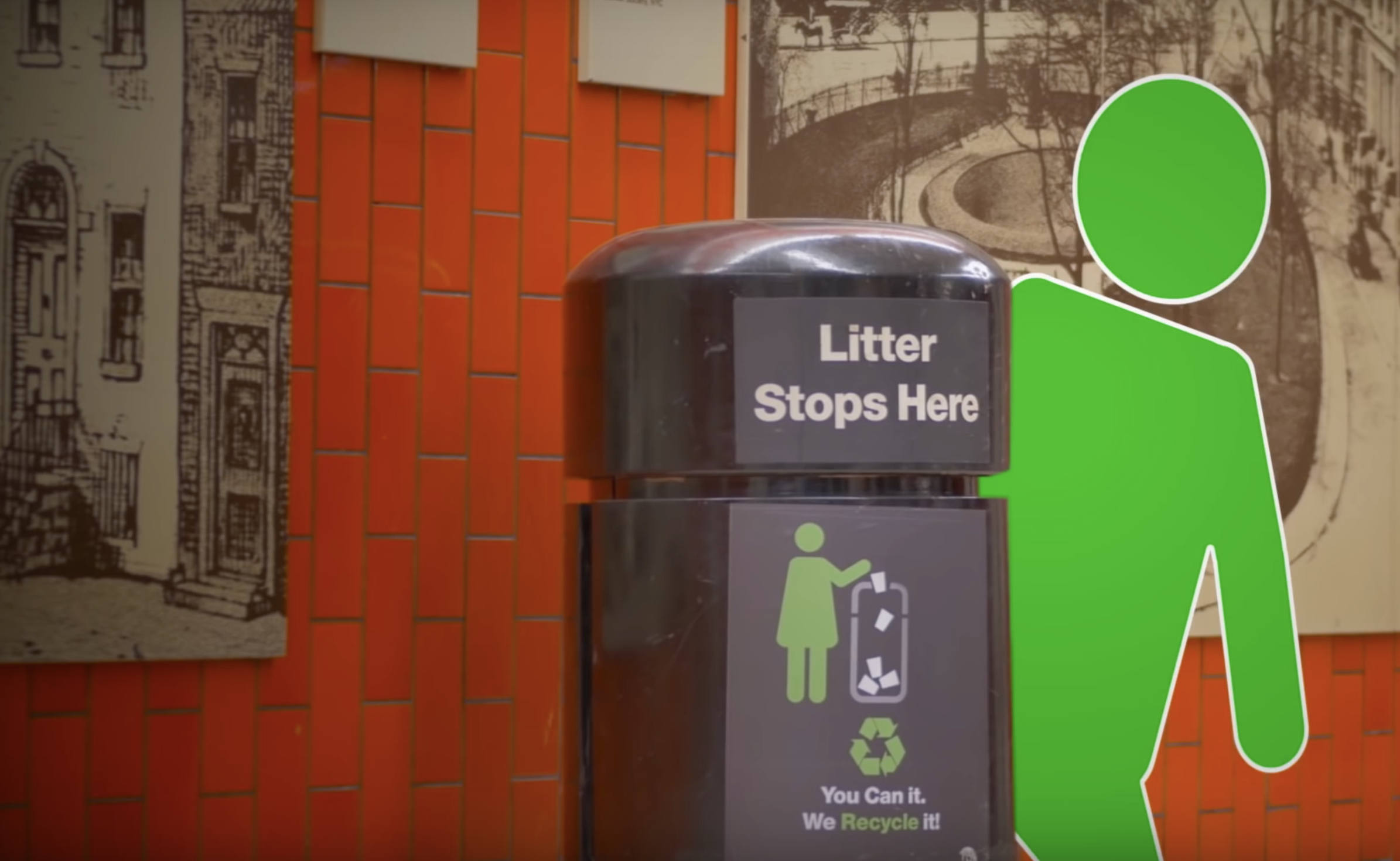 The MTA has decided to return garbage cans to subway stations, because it was a trash idea in the first place