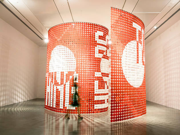 The National Biennial of New Australian Art 2017 MCA installation shot 02 feat Rose Nolan 2016-2017 Big Words (c) Museum of Contemporary Art Australia photographer credit Ken Leanfore