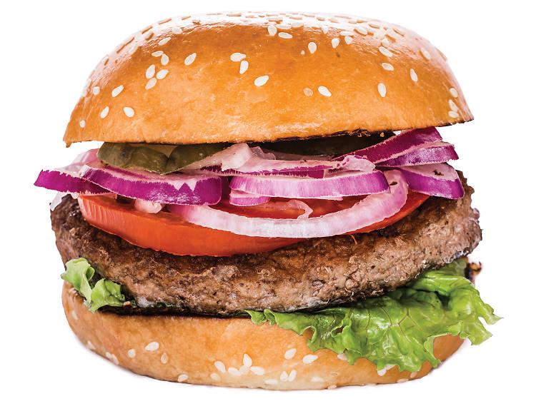 Bacon pineapple burger at Burger Home