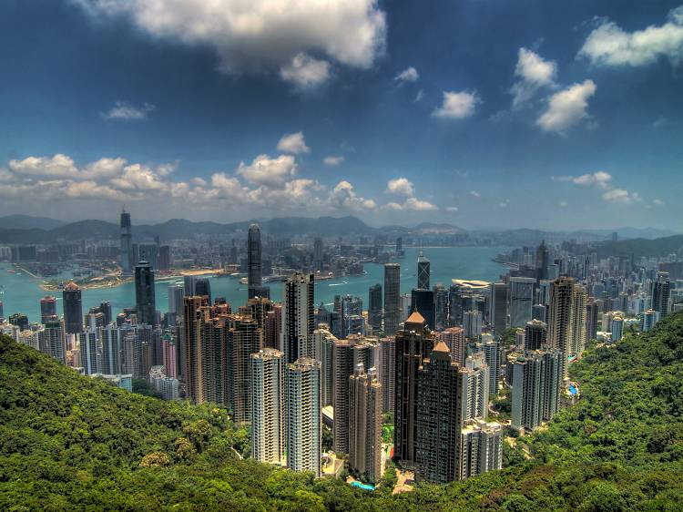 Take in the view from the Victoria Peak