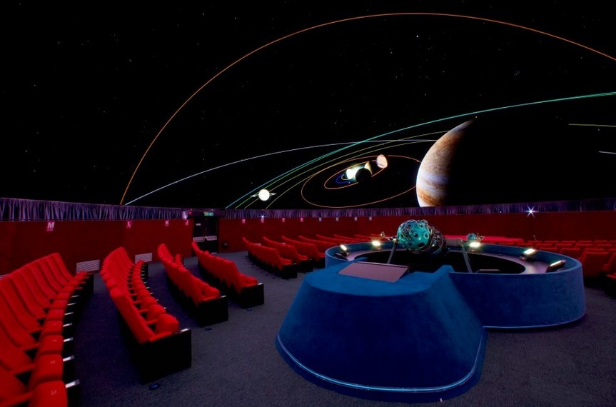 Experience a unique movie-going experience the Space Museum planetarium