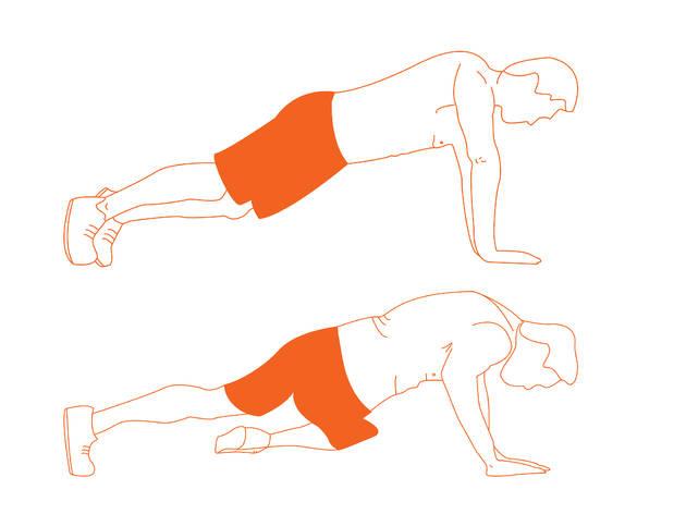 Rotación de tronco en posición de plancha