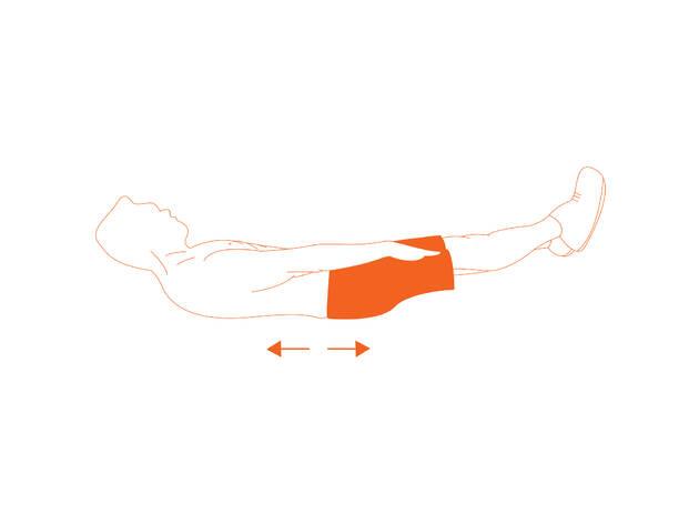 Flexiones laterales de tronco acostado