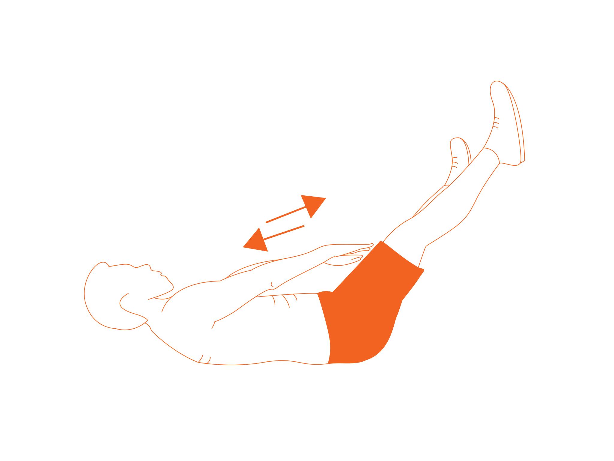 Crunch con elevación de piernas
