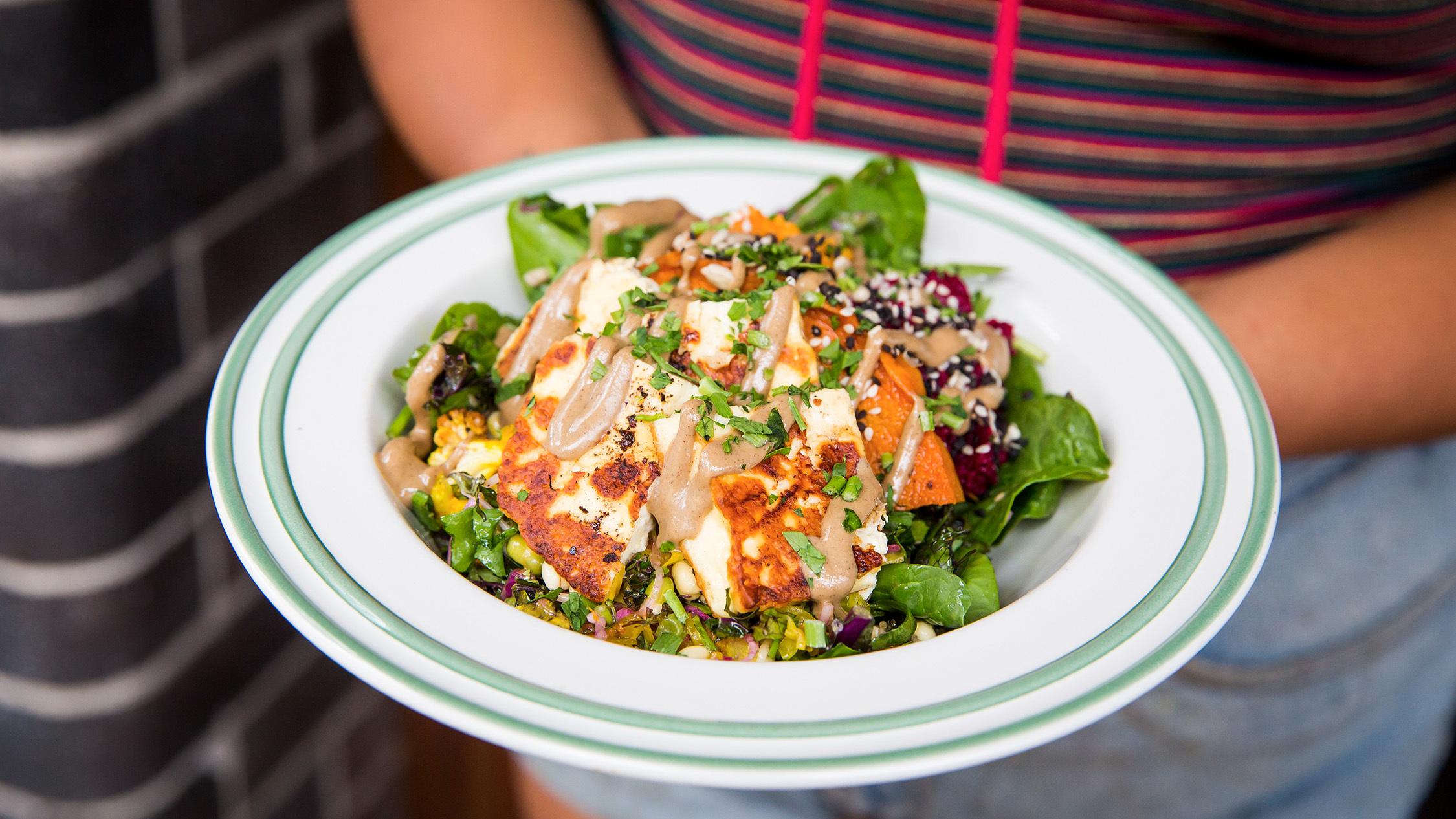 Haloumi salad at Ora