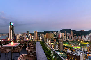 View from Wooloomooloo's rooftop bar in Wan Chai