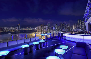 View from Skye bar at the Pullman Hotel in Causeway Bay