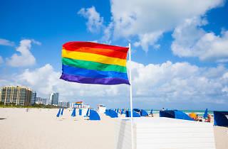 South Beach rainbow flag