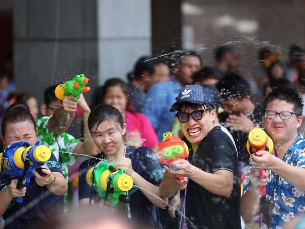 Songkran celebration at CentralWorld