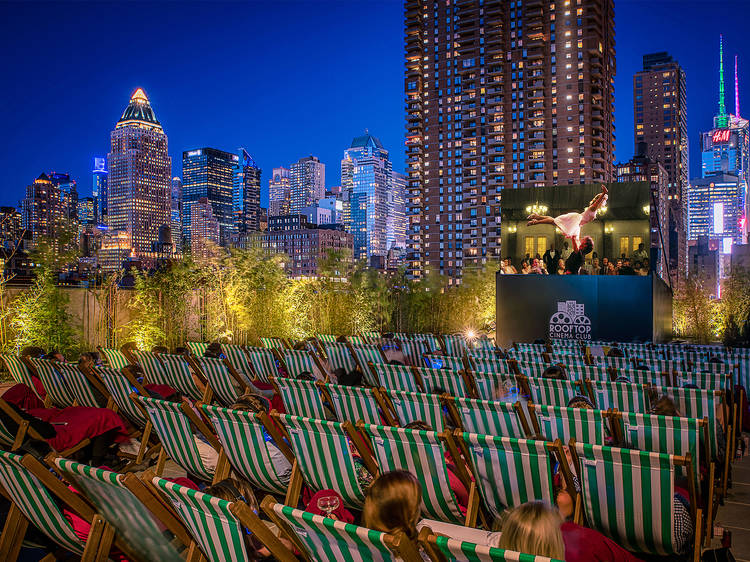 Catch a flick at Rooftop Cinema Club