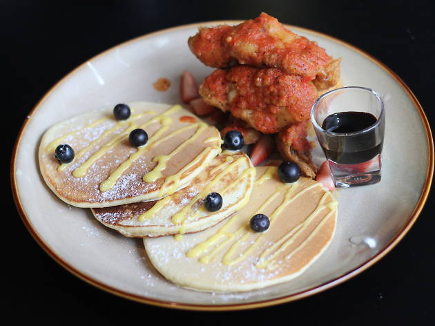 Botanica+Co fried chicken and pancakes