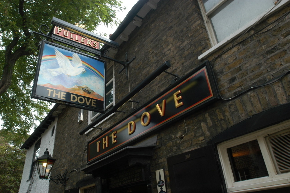 best historic pubs in london, the dove