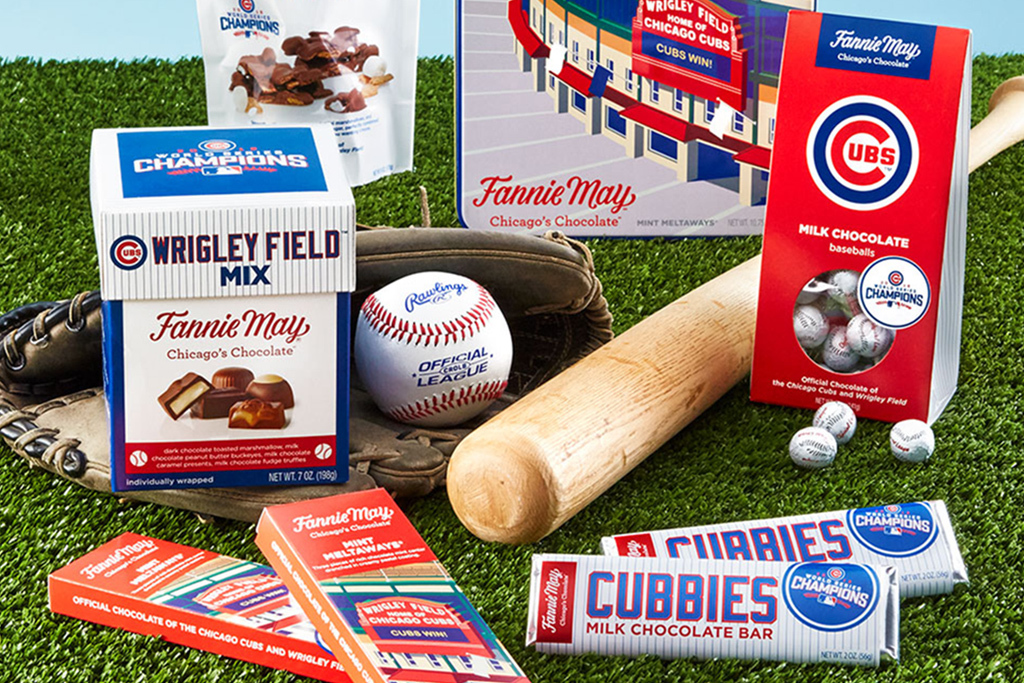Fannie May has a sweet new collection of Chicago Cubs candy