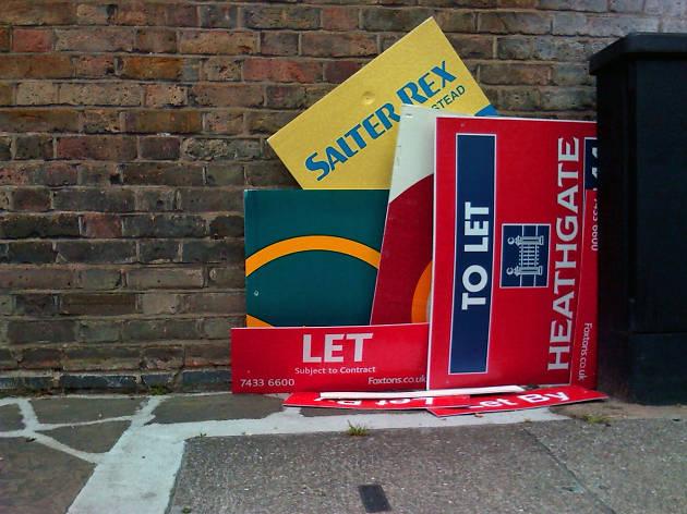 London estate agent boards