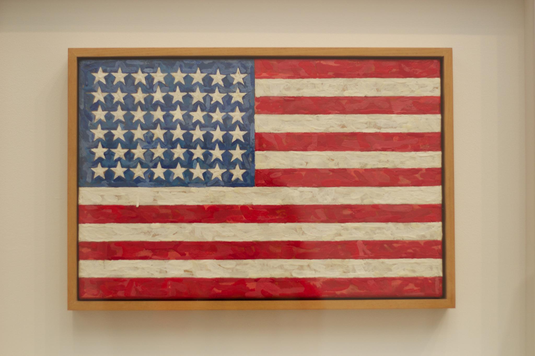 Jasper Johns, Flag, 1954–55