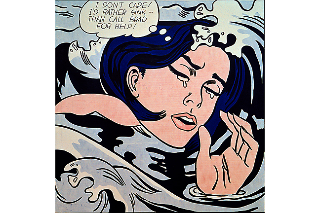 Roy Lichtenstein, Drowning Girl, 1963