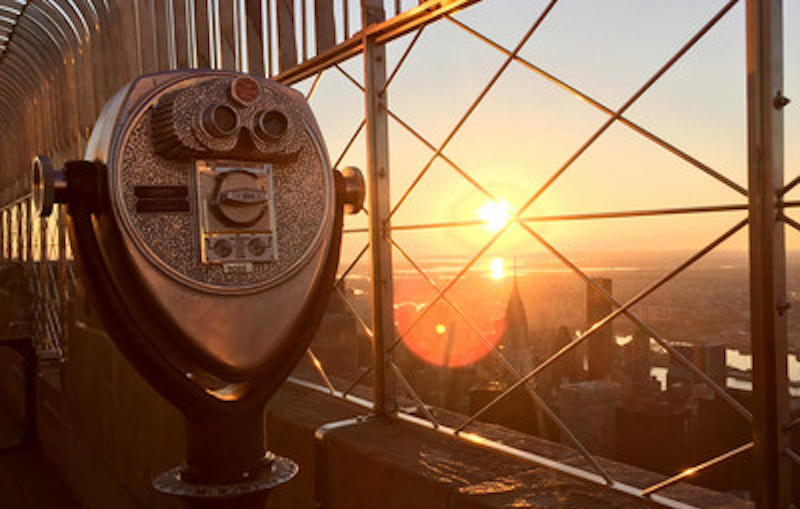 Check out views from the Empire State Building at Sunrise