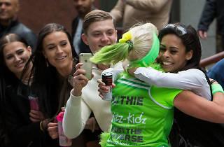 Spectators at the London Marathon