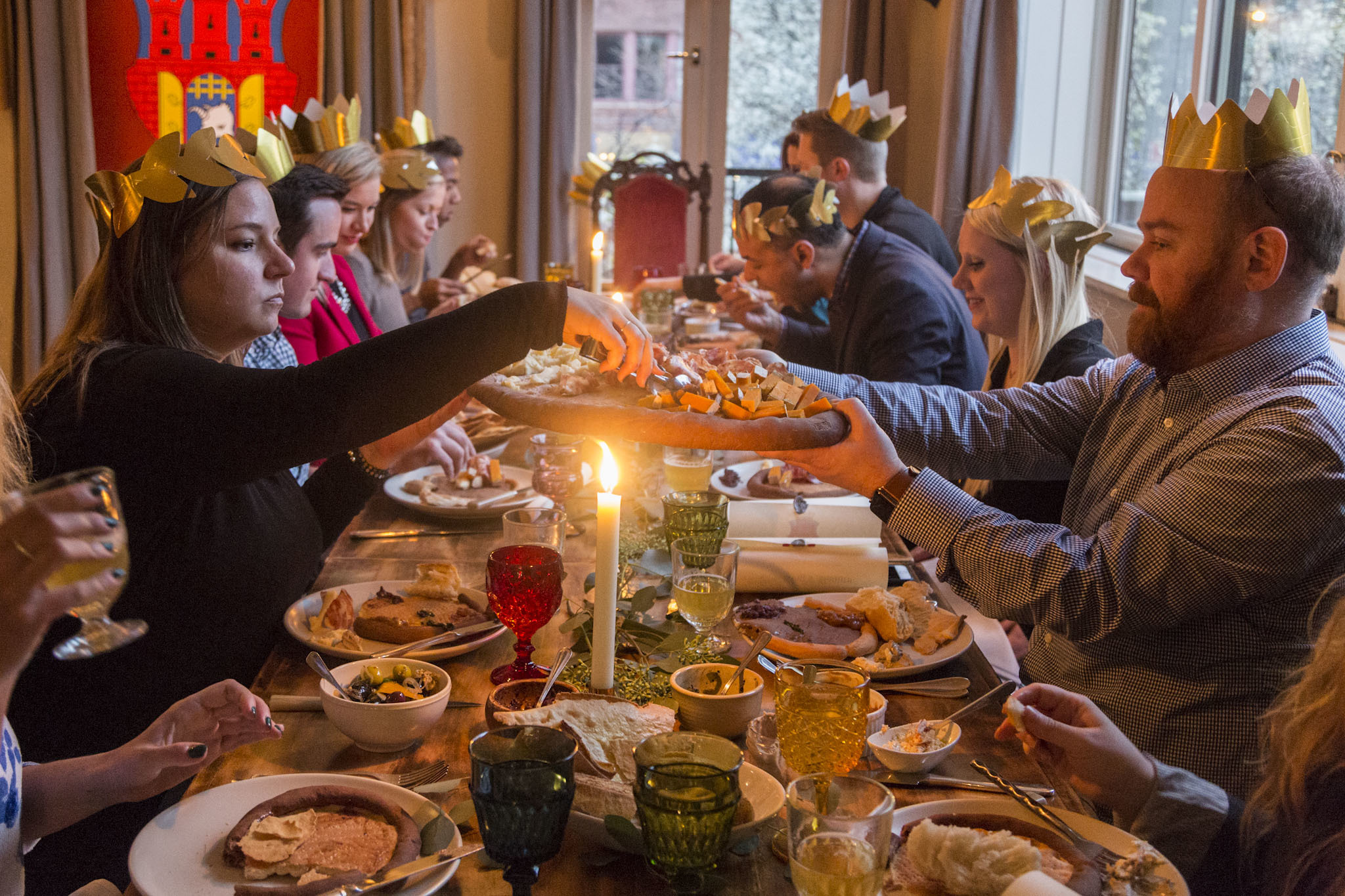 Stephanie Izard hosted a Medieval dinner party last night, and we have the pictures to prove it